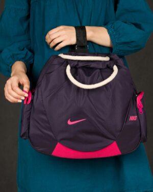 کیف ورزشی زنانه طرح نایک - سرمهای - مدل محیطی