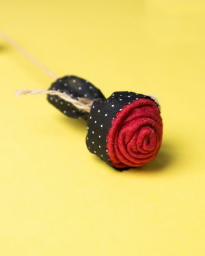 گیفت شاخه گل رز - مشکی - جنس نمدی