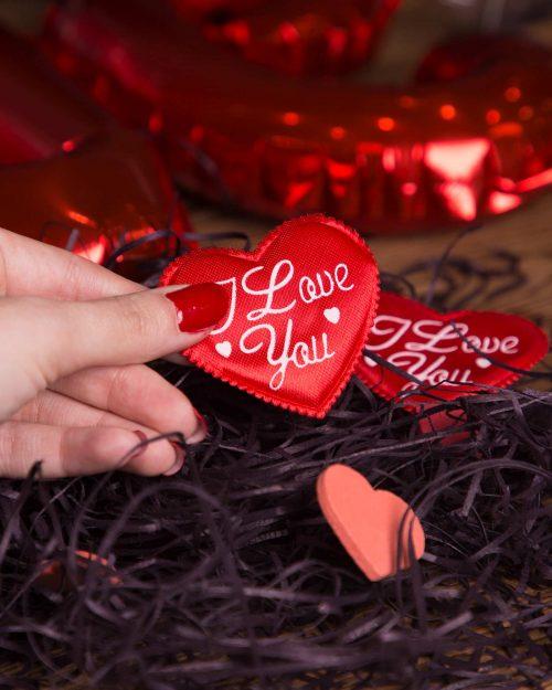 گیفت قلب کادویی کوچک - قرمز - قلب و پوشال