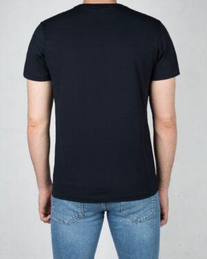 تیشرت آستین کوتاه مردانه طرحدار-سرمه ای تیره-پشت