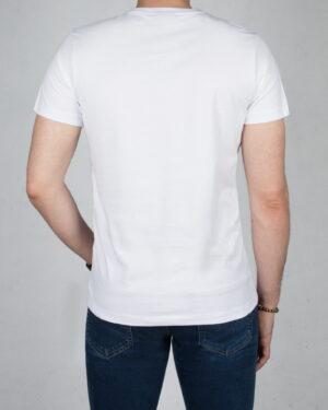 تیشرت آستین کوتاه مردانه طرحدار-سفید-پشت