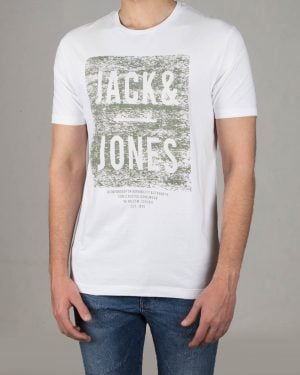 تیشرت مردانه جک اند جونز - سفید - رو به رو