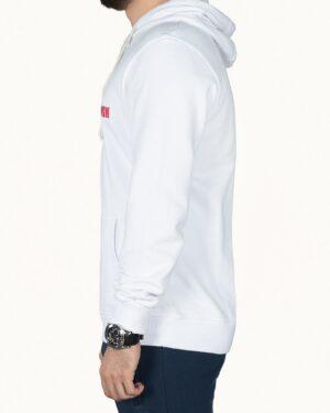 سویشرت کلاه دار مردانه سفید - سفید - نیم رخ