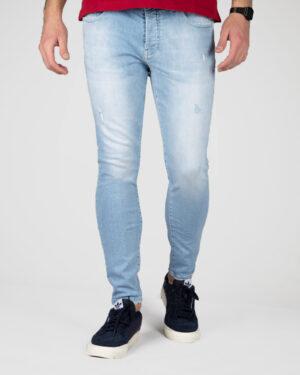 شلوار جین آبی روشن - آبی روشن - رو به رو