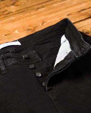 شلوار جین راسته مشکی - مشکی - دکمه ها