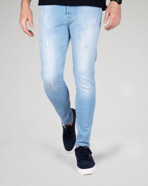 شلوار جین مردانه آبی آسمانی - آبی آسمانی - رو به رو