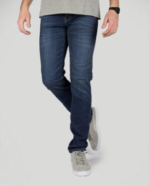 شلوار جین مردانه - آبی کاربنی - رو به رو