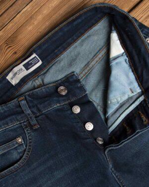 شلوار جین مردانه - آبی کاربنی - نحوه بسته شدن