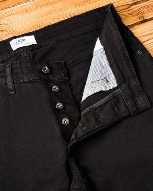 شلوار جین مردانه - مشکی - نحوه بسته شدن