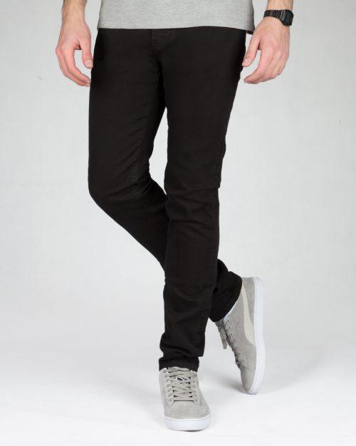 شلوار جین مشکی راسته - مشکی - رو به رو