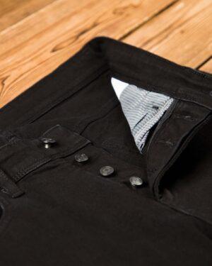 شلوار جین مشکی راسته - مشکی - دکمه ها