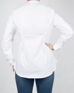 شومیز زنانه یقه ایستاده-سفید-پشت