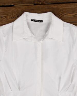 شومیز زنانه یقه ایستاده-سفید-یقه