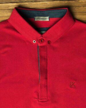 پولوشرت ساده جودون مردانه - قرمز - تیشرت یقهدار وادینکوک