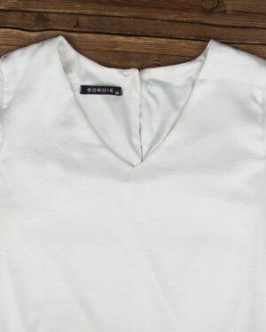 پیراهن مجلسی یقه هفت زنانه-سفید-یقه هفت