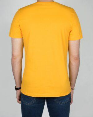 تیشرت ساده نخ پنبه ای مردانه -زرد-پشت