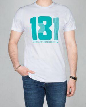 تیشرت کانی راش طرح 181-سفید-روبه رو