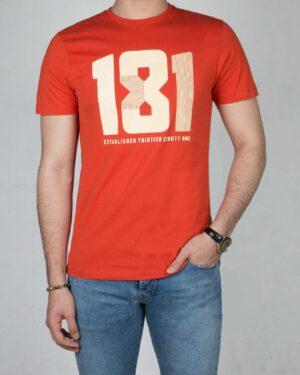 تیشرت کانی راش طرح 181-نارنجی تیره-رو به رو