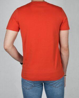 تیشرت کانی راش طرح 181-نارنجی تیره-پشت
