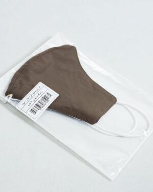 ماسک تنفسی پارچه ای-قهوهای روشن-بسته بندی ماسک