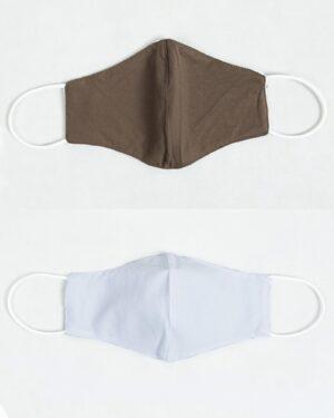 ماسک تنفسی پارچه ای-قهوهای روشن-بیرون و آستر ماسک