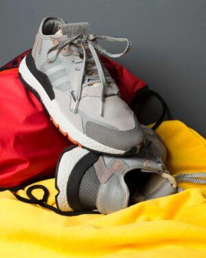 کفش اسپرت مردانه طرح آدیدادس-طوسی کمرنگ-محیطی