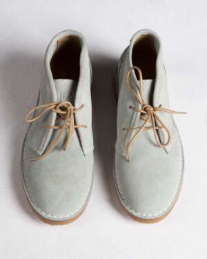 کفش زنانه ساقدار وادین کوک-طوسی کمرنگ-روبه رو