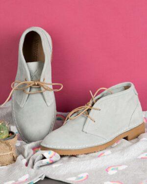 کفش زنانه ساقدار وادین کوک-طوسی کمرنگ-محیطی
