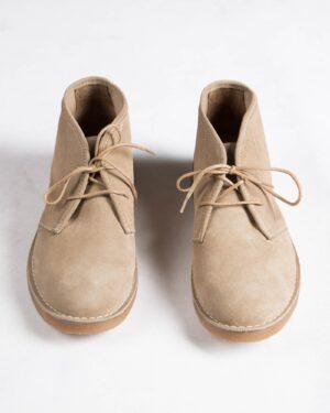 کفش ساقدار زنانه وادین کوک-کرمی-روبه رو
