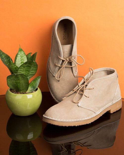 کفش ساقدار زنانه وادین کوک-کرمی-محیطی