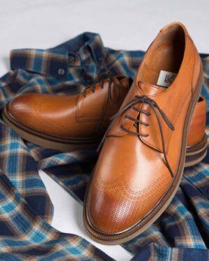 کفش مردانه مجلسی وادینکوک-بادامی-طرح
