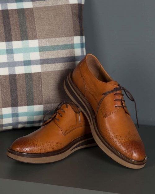 کفش مردانه مجلسی وادینکوک-بادامی-محیطی