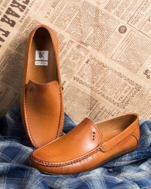 کفش کالج مردانه وادین کوک-بادامی-جلو