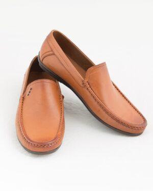 کفش کالج مردانه وادین کوک-بادامی-روبه رو