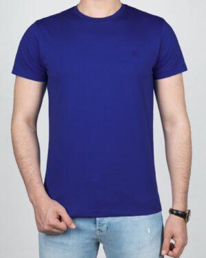 تیشرت مردانه آستین کوتاه - آبی تیره - روبه-رو