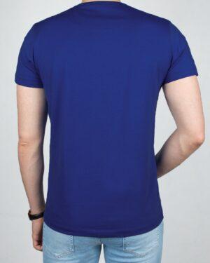 تیشرت مردانه آستین کوتاه- آبی تیره- پشت