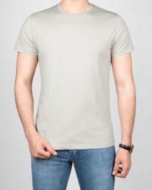 تیشرت مردانه آستین کوتاه - خاکستری محو- روبه-رو
