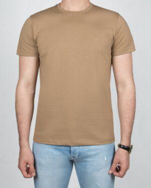 تیشرت مردانه آستین کوتاه -خاکی- روبه-رو