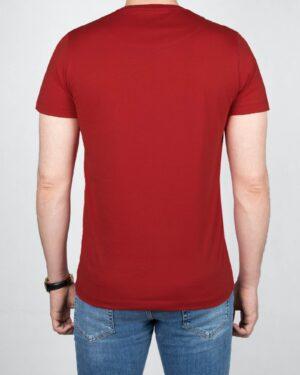 تیشرت مردانه آستین کوتاه -زرشکی- پشت