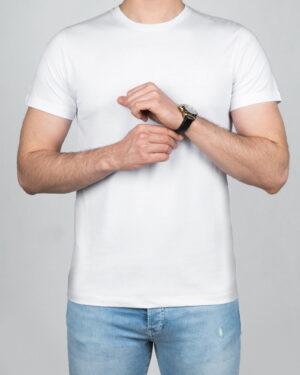 تیشرت مردانه آستین کوتاه- سفید- روبه-رو- محیطی