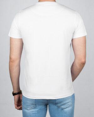 تیشرت مردانه آستین کوتاه- سفید- پشت-محیطی