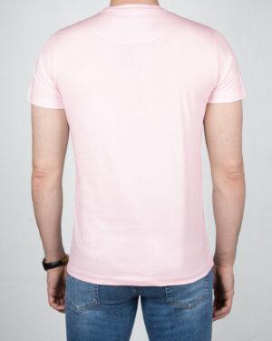 تیشرت مردانه آستین کوتاه - صورتی پاستیلی -پشت