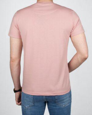تیشرت مردانه آستین کوتاه - صورتی کثیف -پشت