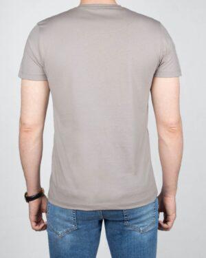 تیشرت مردانه آستین کوتاه - طوسی کمرنگ-پشت