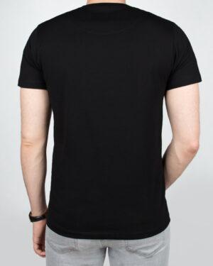 تیشرت مردانه آستین کوتاه - مشکی - پشت