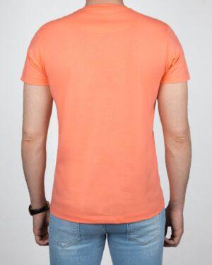 تیشرت مردانه آستین کوتاه - گلبهی - پشت