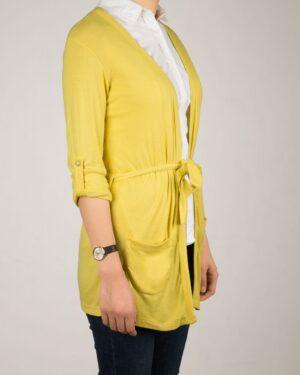 رویه نخی زنانه آستین بلند- زرد-بغل