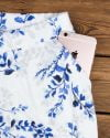 ست بلوز شلوار طرح دار زنانه- سفید - جیب