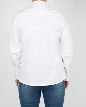 شومیز-زنانه-آستین-بلند-سفید-پشت
