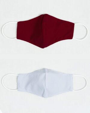 ماسک تنفسی پارچه ای-عنابی-بیرون و آستر ماسک